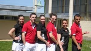 L'équipe Interclub de l'ASM Pau Badminton