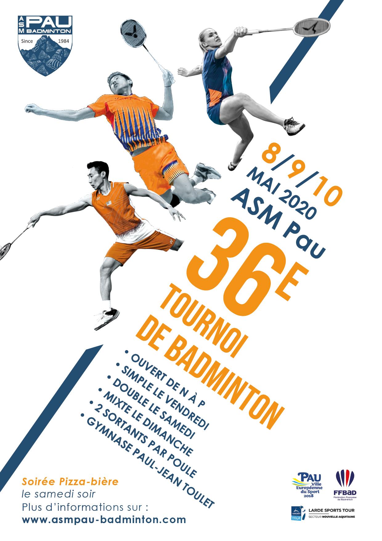 Annulation du 36ème tournoi de l'ASM PAU – mai 2020